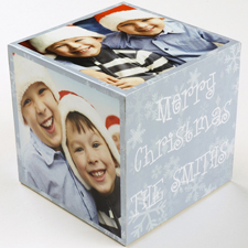 Fröhliche Weihnachten  5 gestaltbare Fotowürfel