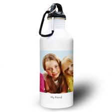Foto Textbox Weiß Wasserflasche personalisieren