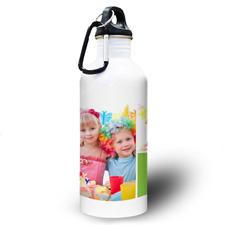 Zwei Fotos Collage Hellgrün Wasserflasche für Kinder