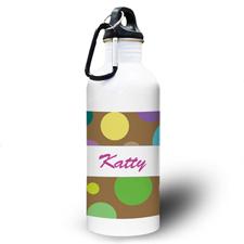 Mädchen Gepunktet Wasserflasche