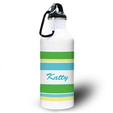 Grün Gelb Gestreift Wasserflasche Mein Design
