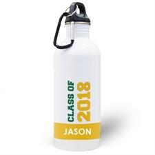 Jahrgang 2018 Gelb Wasserflasche zum Personalisieren