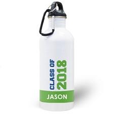 Jahrgang 2018 Grün Wasserflasche zum Personalisieren
