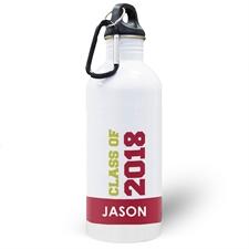 Jahrgang 2018 Rot Wasserflasche zum Personalisieren
