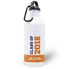 Jahrgang 2018 Orange Wasserflasche zum Personalisieren