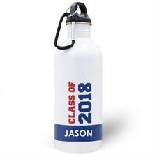 Jahrgang 2018 Blau Wasserflasche zum Personalisieren