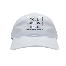 Weiße Kappe Vorderseite und Rückseite Personalisieren 43 - 61 cm