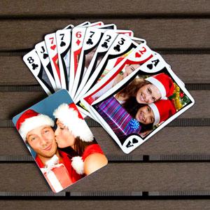 Spielkarten für die Weihnachtferien personalisieren