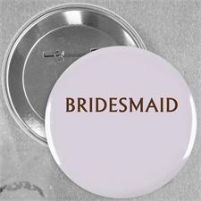 Gepunktet Hochzeitsteam Button 64mm