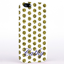 Gold Glitzer Punkte iPhone5 Case