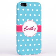 Weiße Punkte auf Aqua iPhone5 Case