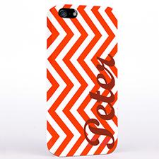 Rotes Zickzack iPhone 5 Case Personalisieren
