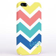 Gelb Rot Aqua Blau Breite Streifen iPhone5 Case