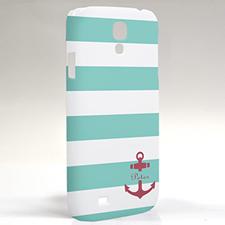 Roter Anker Aqua Streifen Samsung S4 Case