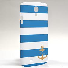 Gelber Anker Aqua Streifen Samsung S4 Case