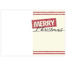 Glitzer Fröhliche Weihnachten Fotokarte Hochformat 127x178