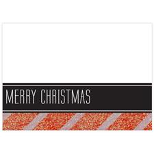 Schwarz Rote Glitzer Weihnachten Fotokarte Hochformat 127x178