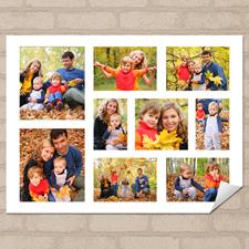 Weiß Querformat 2018 Posterkalender Collage neun Fotos 45,7 x 61,0 cm