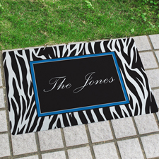 Zebra Personalisierte Fußmatte mit Namen