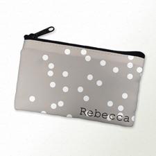 Weiße Punkte Kosmetiktasche 10,2 x 17,8 cm Personalisieren