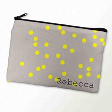 Gelbe Punkte Kosmetiktasche 15,2 x 22,9 cm Personalisieren