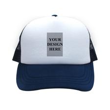 Hochformat Foto auf Kappe Navy Blau