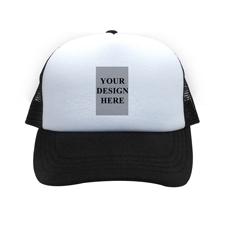 Bild und Botschaft Querformat Kappe Personalisieren Schwarz
