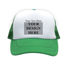 Bild und Botschaft Querformat Kappe Personalisieren Grün