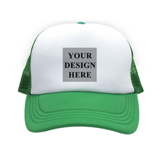 Motiv Quadrat Foto auf Kappe Grün