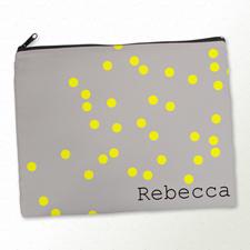 Gelbe Punkte Kosmetiktasche 27,9 x 35,6 cm Personalisieren