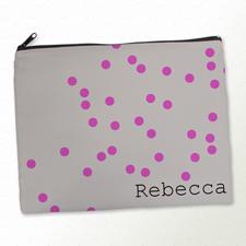 Rote Punkte Kosmetiktasche 27,9 x 35,6 cm Personalisieren