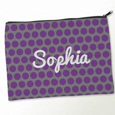Purple und Grau Clutch Beide Seiten Gleich Personalisieren 24,1 x 33,0 cm