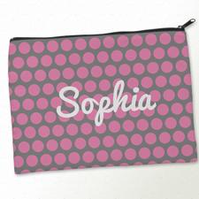 Pink und Grau Clutch Beide Seiten Gleich Personalisieren 24,1 x 33,0 cm