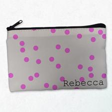Rote Kleine Punkte Kosmetiktasche 12,7 x 20,3 cm Beidseitig gleich Personalisieren