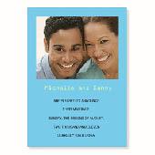 Hochzeitsankündigung, 12,7 cm x 17,8 cm, einfache Karte, Babyblau