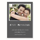 Hochzeitsankündigung, 12,7 cm x 17,8 cm, einfache Karte, Anthrazit