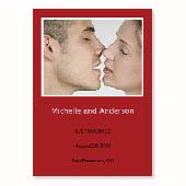 Hochzeitsankündigung, 12,7 cm x 17,8 cm, einfache Karte, Rot