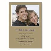 Hochzeitsankündigung, 12,7 cm x 17,8 cm, einfache Karte, Gold