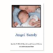 Baby-ist-da, 12,7 cm x 17,8 cm, einfache Karte, Weiss