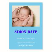 Baby-ist-da, 12,7 cm x 17,8 cm, einfache Karte, Babyblau
