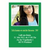 Geburtstagseinladung, 12,7 cm x 17,8 cm,  einfache Karte, Grün