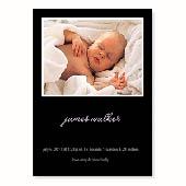 Baby-ist-da, 12,7 cm x 17,8 cm, einfache Karte, Schwarz