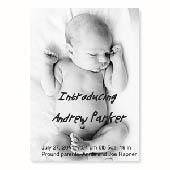 Baby-ist-da, Hochformat Vollbild, 12,7 cm x 17,8 cm, einfache Karte