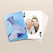 Vatertag Ovales Protrait Beidseitig Personalisierbare Spielkarten
