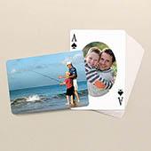 Vatertag Spielkarten Ovales Portrait Vorne und Querformat hinten