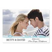 Hochzeit, 12,7 cm x 17,8 cm, einfache Karte, Blau