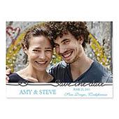 Hochzeit, 12,7 cm x 17,8 cm, einfache Karte, klassisch Anthrazit