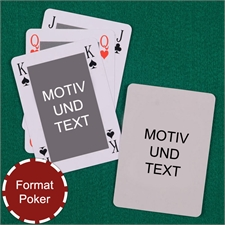 Klassische Bidgekarten im Pokerformat eigenes Design