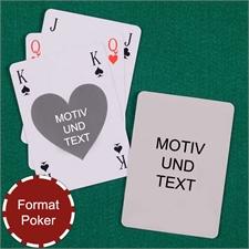 Bridge mit Herz Pokergröße selbst gestalten Spielkarten