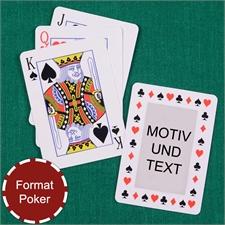 Zeitlose Spielkarten mit Standardschrift